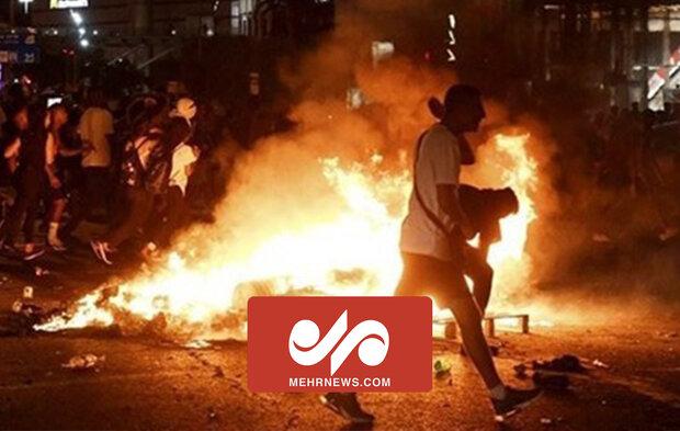VIDEO: Clash erupts between Palestinians, Zionist forces