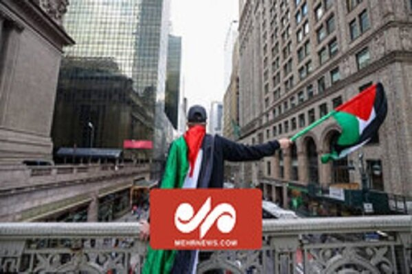 VIDEO: People in US demonstrate in support of Palestinians