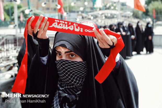 تجمع اعتراضی مردم همدان در حمایت از مردم فلسطین وافغانستان