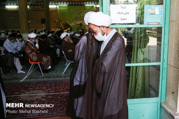 تجمع طلاب افغانستانی در محکومیت حادثه مدرسه سیدالشهداء کابل