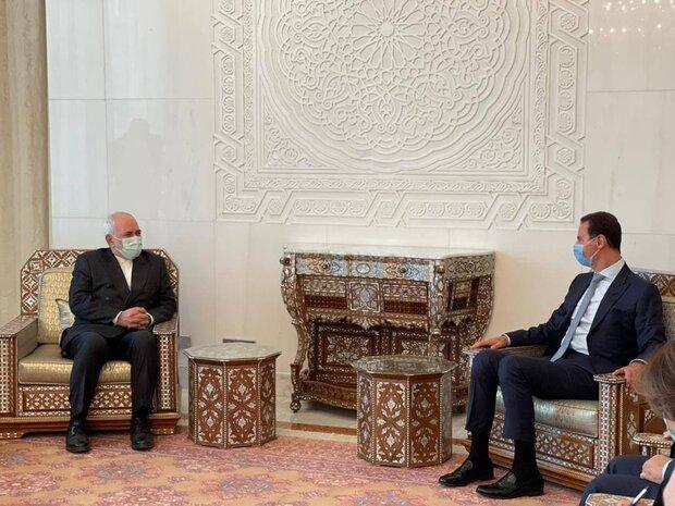 Zarif, Syrian president meet to discuss bilateral ties, coop.