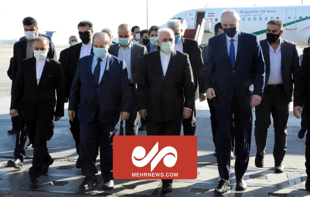 اظهارات ظریف در بدو ورود به دمشق