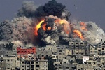 Zionists continuing their crimes in Gaza