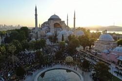 Ayasofya'da 87 yıl sonra ilk kez Ramazan Bayramı namazı kılındı
