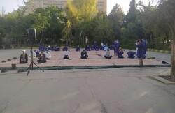 اقامه نماز عید فطر در بیمارستان حضرت علی اصغر(ع) شیراز