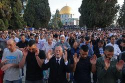 بیت المقدس میں نماز عید سعید فطر کی ادائیگي