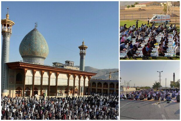 نماز بندگی عید فطر در سراسر فارس اقامه شد