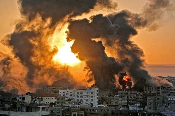 Zionist fighter jets destroy Mushtaha tower in Gaza (+VIDEOS)