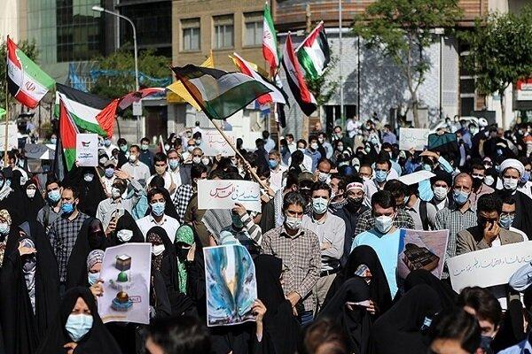 Tahran'da Filistin'e destek gösterisi