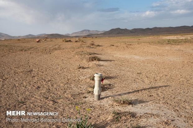 سیستم های آبرسانی بارانی که با صرف هزینه زیادی برای کشاورزی مکانیزه و اشتغال پایدار ایجاد شده و اکنون در حال نابودی اند.