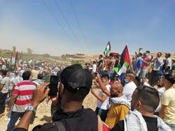 تجمع هزاران اردنی در مرزهای این کشور با فلسطین