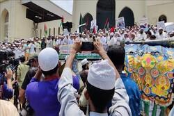 تظاهرات مردم در داکا و آنکارا علیه جنایات رژیم صهیونیستی