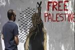 Yunan sanatçı, Filistin'e destek için grafiti yaptı