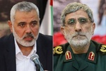 IRGC Quds Force cmdr., Hamas chief discuss latest development