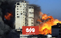تخریب برج الجلاء در غزه