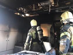 سوله ۱۰۰۰ متری تولید مبل در پردیس در آتش سوخت