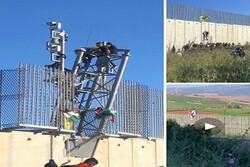 تظاهرات در نزدیکی دیوار مرزی لبنان با فلسطین اشغالی/ پرواز پهپاد اسرائیلی