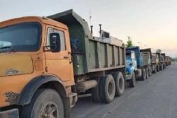 ۳۰۰ تن ماسه غیر مجاز در شهرستان انزلی کشف شد