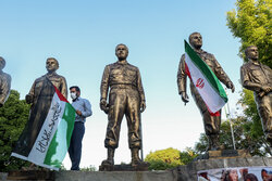 Gathering of People in Tabriz in support of Palestinians