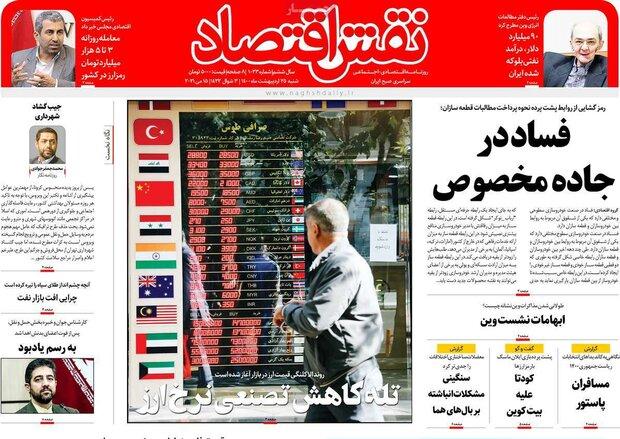 روزنامههای اقتصادی شنبه ۲۵ اردیبهشت۱۴۰۰