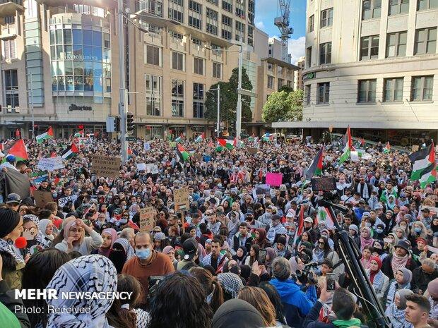 تجمع 20 هزار نفره در حمایت از فلسطین در سیدنی استرالیا