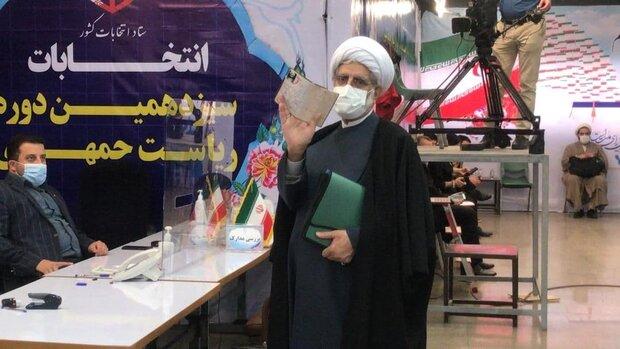 محسن رهامی با شعار «دولت صلح و توسعه» ثبت نام کرد