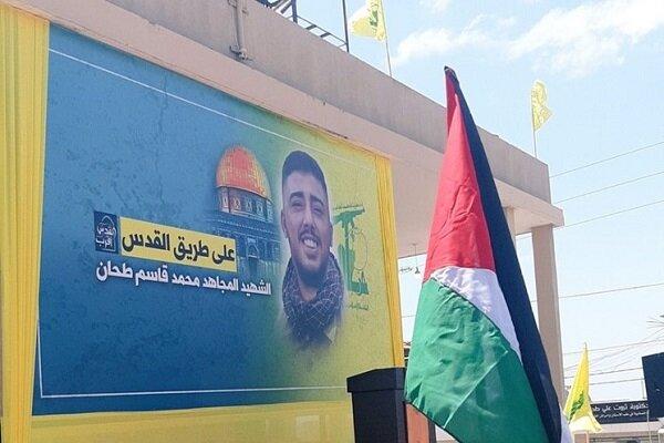 برگزاری مراسم تشییع پیکر شهید راه قدس در جنوب لبنان