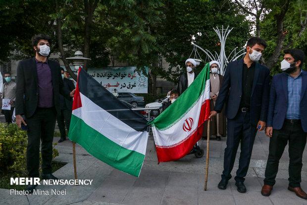 تجمع در حمایت از مردم مظلوم فلسطین در تبریز