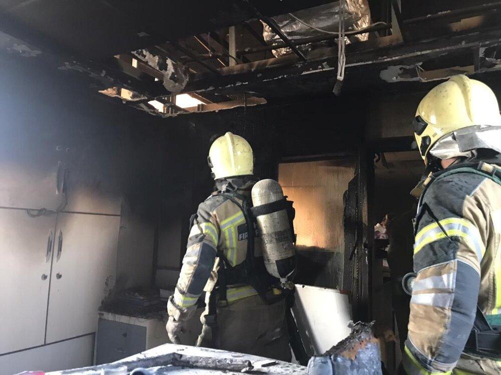آتش سوزی در بخش اداری بیمارستان بقیه الله/ حادثه مصدومی نداشت