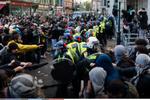 Londra'da Filistinlilere destek protestosuna binlerce kişi katıldı