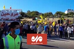 VIDEO: Lebanese people hold rally on border of occupied lands