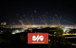 فریاد الله اکبر هنگام موشک باران اسرائیل