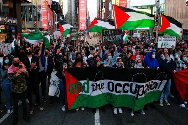 مسيرات ضد الكيان المحتل/ صرخات تناشد بايدن للتوقف عن دعم الاحتلال