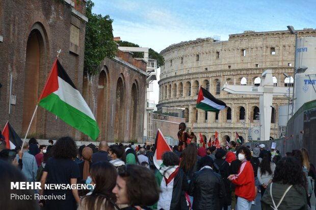 VIDEO: Pro-Palestinian rally in Rome