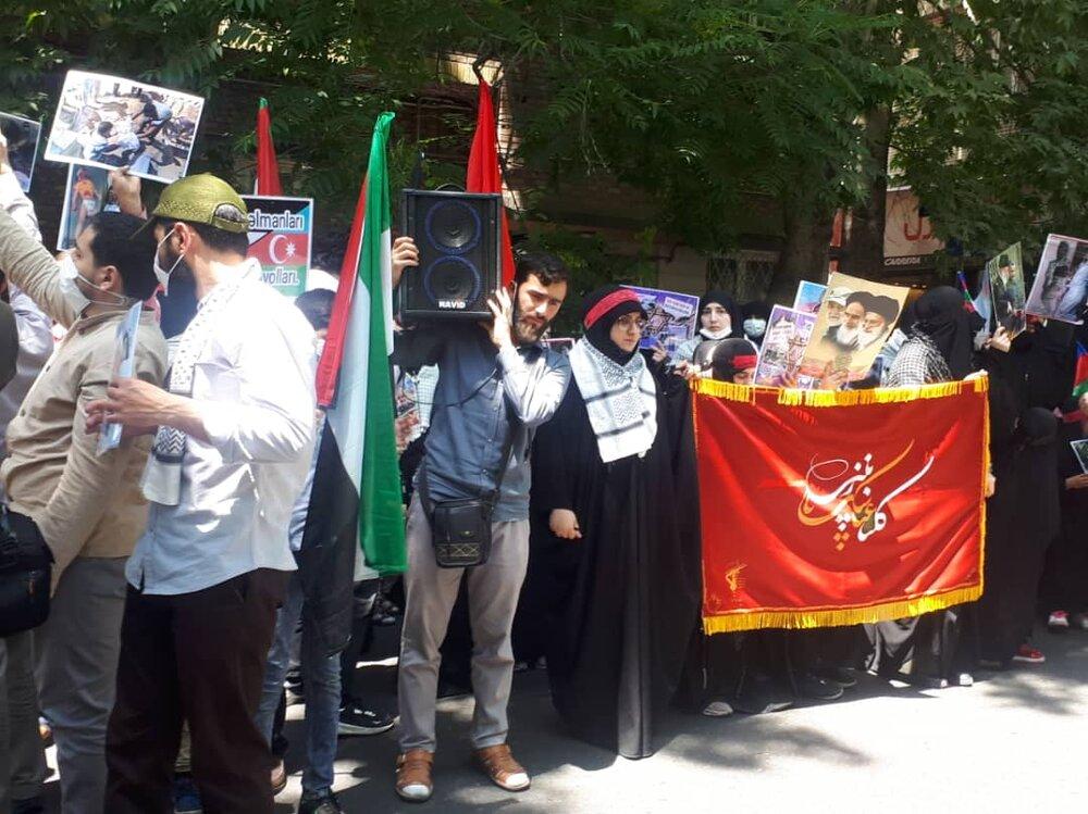İran'daki Azerbaycanlılardan Filistin'e büyük destek