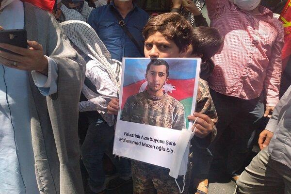 Azerbaycan vatandaşlarından Filistin'e büyük destek