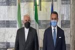 ظريف يبحث مع نظيره الايطالي العلاقات الثنائية والقضايا ذات الاهتمام المشترك