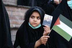 İran'ın kuzeyinde Filistin'e destek mitingi