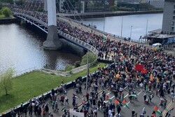 VIDEO: Huge pro-Palestinian rally in Glasgow of Scotland