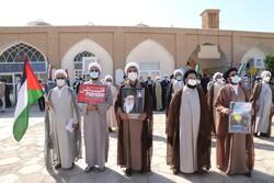 طلاب و روحانیون یزد جنایات فلسطین و افغانستان را محکوم کردند