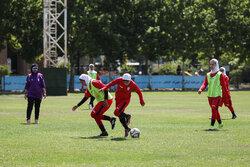 Iran's women's football team training