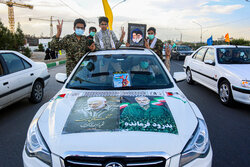 Qom hosts drive-in rallies in solidarity with Palestine