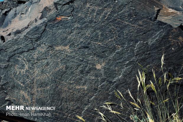 Ancient petroglyphs of Alvand mountain in Hamedan prov.