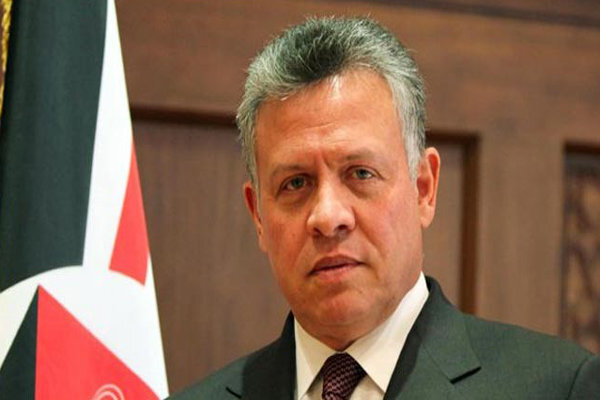 Jordanian king calls for halting Zionists crimes in Palestine
