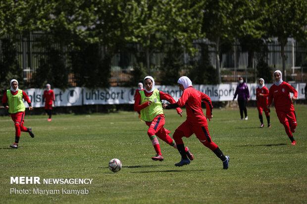 Iran's women's football team practice