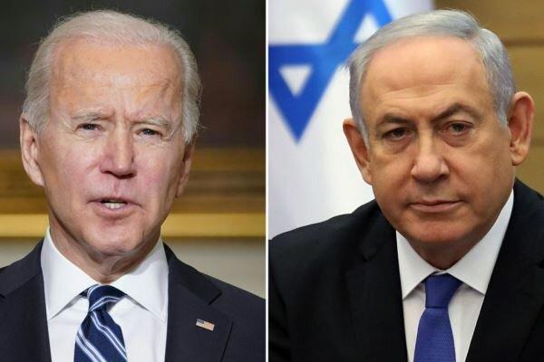 «بایدن» و «نتانیاهو» پیرامون تحولات فلسطین اشغالی گفتگو می کنند