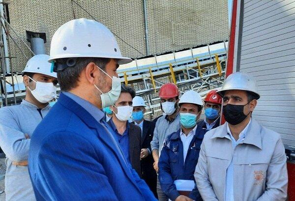 افتتاح کارخانه آهک هیدراته شهرستان اهر با حضور وزیر صمت
