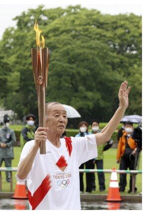 آغاز مراسم حمل مشعل المپیک در پارک «بدون تماشاگر»