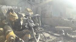 وقوع آتش سوزی و انفجار در کارگاه شارژ و توزیع سیلندر گاز در قم