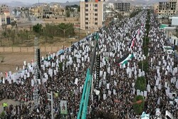 Yemeni people hold massive rally in support of Palestinians